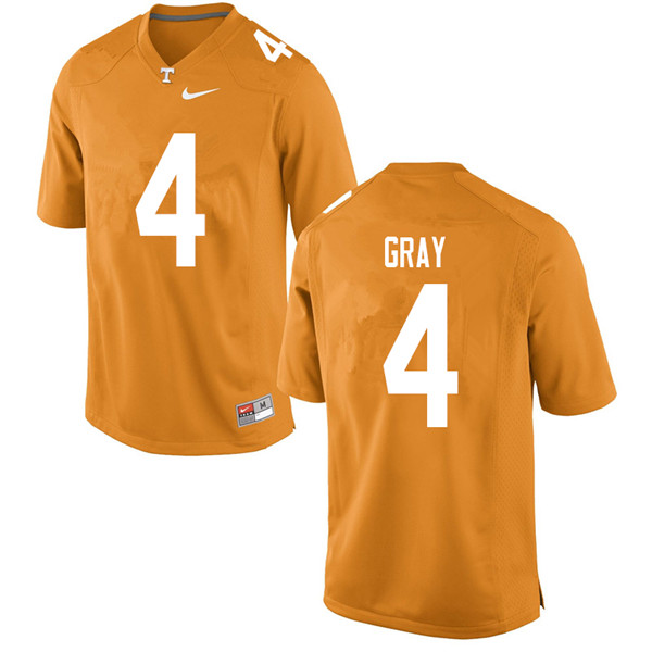Men #4 Maleik Gray Tennessee Volunteers College Football Jerseys Sale-Orange